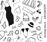 women stuff pattern | Shutterstock .eps vector #184184399