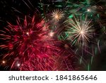 Colorful Fireworks Display In...