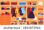wardrobe. inner space closet ... | Shutterstock .eps vector #1841872963