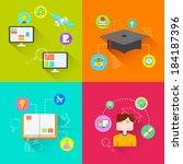 illustration of e learning... | Shutterstock .eps vector #184187396