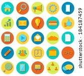 illustration of set of business ... | Shutterstock .eps vector #184187459
