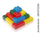 colorful building block... | Shutterstock . vector #184191206