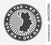 ko tao round logo. vintage... | Shutterstock .eps vector #1841922589