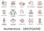 vector set of linear icons... | Shutterstock .eps vector #1841926540