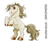 vector pony. little gray baby... | Shutterstock .eps vector #184194050