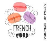 macarons. flat vector... | Shutterstock .eps vector #1841982379