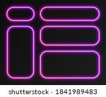 neon gradient frames set ... | Shutterstock .eps vector #1841989483