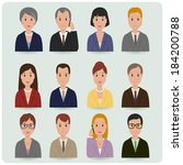 business men and women. | Shutterstock .eps vector #184200788