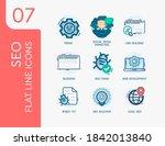 seo. set 7. vector modern flat...   Shutterstock .eps vector #1842013840