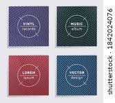 retro vinyl records music album ... | Shutterstock .eps vector #1842024076