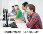 education concept   student... | Shutterstock . vector #184203239