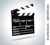 film clapboard   Shutterstock . vector #184204166