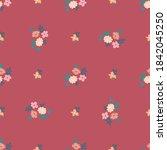 pretty vintage feedsack pattern ...   Shutterstock .eps vector #1842045250