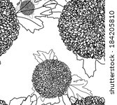 pattern floral seamless  eps 10   Shutterstock .eps vector #184205810