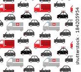 seamless pattern of cartoon... | Shutterstock .eps vector #184205954
