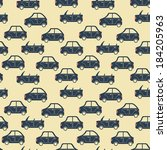 seamless pattern of cartoon... | Shutterstock .eps vector #184205963