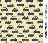 seamless pattern of cartoon... | Shutterstock .eps vector #184205963