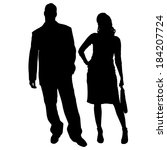 vector silhouettes of business... | Shutterstock .eps vector #184207724