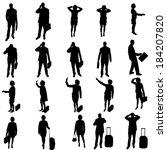 vector silhouette of business...   Shutterstock .eps vector #184207820