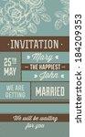 wedding invitation | Shutterstock .eps vector #184209353
