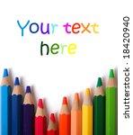 colorful pencils | Shutterstock . vector #18420940
