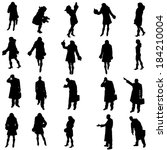 vector silhouettes of different ...   Shutterstock .eps vector #184210004