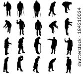 vector silhouettes of different ... | Shutterstock .eps vector #184210034