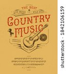font country music. craft retro ... | Shutterstock .eps vector #1842106159