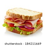 Sandwich With Ham  Cheese And...