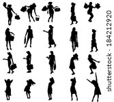 vector silhouettes of different ... | Shutterstock .eps vector #184212920