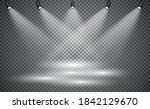 stage lighting  on a... | Shutterstock .eps vector #1842129670