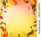 falling autumn leaves. red ... | Shutterstock .eps vector #1842130609