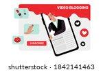 youtube illustration. fashion... | Shutterstock .eps vector #1842141463