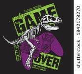 vector illustration of dinosaur ... | Shutterstock .eps vector #1842178270