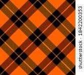 diagonal tartan halloween plaid....   Shutterstock .eps vector #1842200353