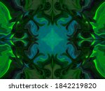 Green And Blue Abstract Trippy...