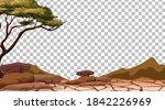 dry cracked land on transparent ... | Shutterstock .eps vector #1842226969