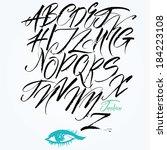 expressive calligraphic script. ... | Shutterstock .eps vector #184223108