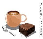 Espresso Coffee With Brownies...