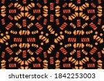 halloween seamless pattern cute ...   Shutterstock . vector #1842253003