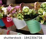 Close Up Of Flower Bouquets In...