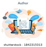 professional writer or... | Shutterstock .eps vector #1842315313