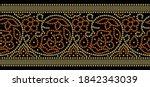 seamless vector bandhani border ... | Shutterstock .eps vector #1842343039