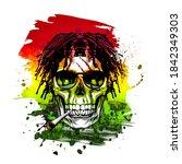 Rastafari Skull And Crossbones...