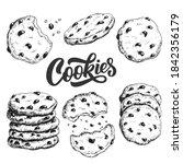 Sketch Ink Graphic Cookies Set...