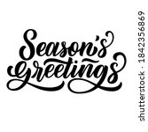 season's greetings brush hand... | Shutterstock .eps vector #1842356869