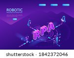 robotic process automation... | Shutterstock .eps vector #1842372046
