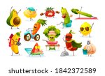 funny fruits and vegetables... | Shutterstock .eps vector #1842372589