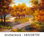 Oil Painting   Autumn Forest...