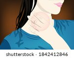 sore throat is a condition... | Shutterstock .eps vector #1842412846